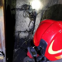 Caldaia si incendia in una casa a Cene Vigili del fuoco al lavoro per oltre tre ore