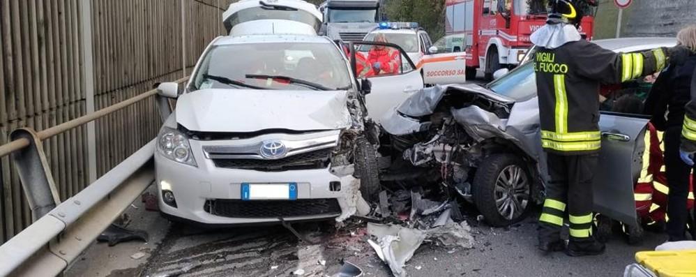 Incidente a Botta di Sedrina Traffico in tilt sulla statale 470