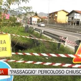 Morto cadendo nel canale, a Paladina chiuso il sentiero della disgrazia. Mancano i soldi per un nuovo sottopasso