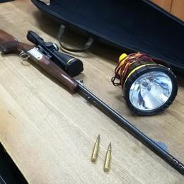 Operazione  notturna antibracconaggio Scoperti tre cacciatori a Sovere