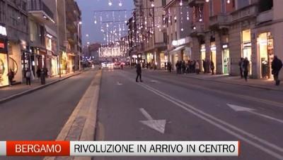 Via Tiraboschi diventa a senso unico. Rivoluzione in arrivo a Bergamo
