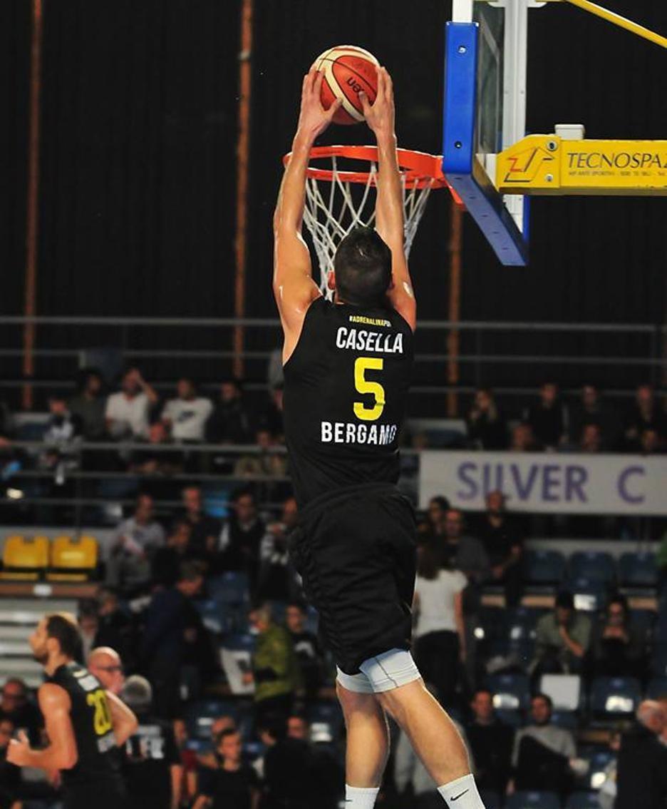 Basket serie A2 maschile 2018/19 Andrea Casella della Bergamo Basket 2014 contro la Remer Treviglio foto Comi