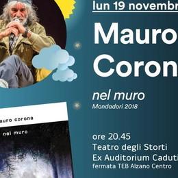 Alla scoperta di «Nel muro» Mauro Corona torna a Bergamo