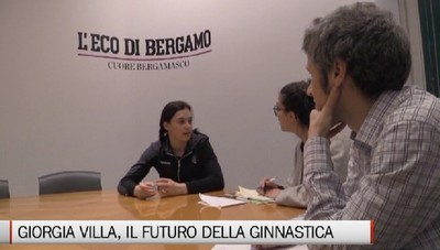 La ginnasta Giorgia Villa in visita a L'Eco di Bergamo