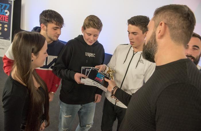 I riconoscimenti agli studenti vincitori del corto
