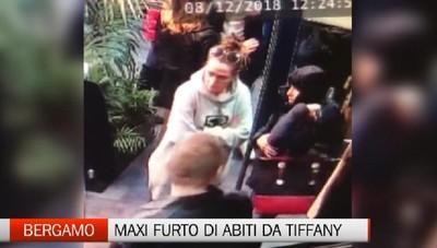 Bergamo: maxi furto di abiti da Tiffany