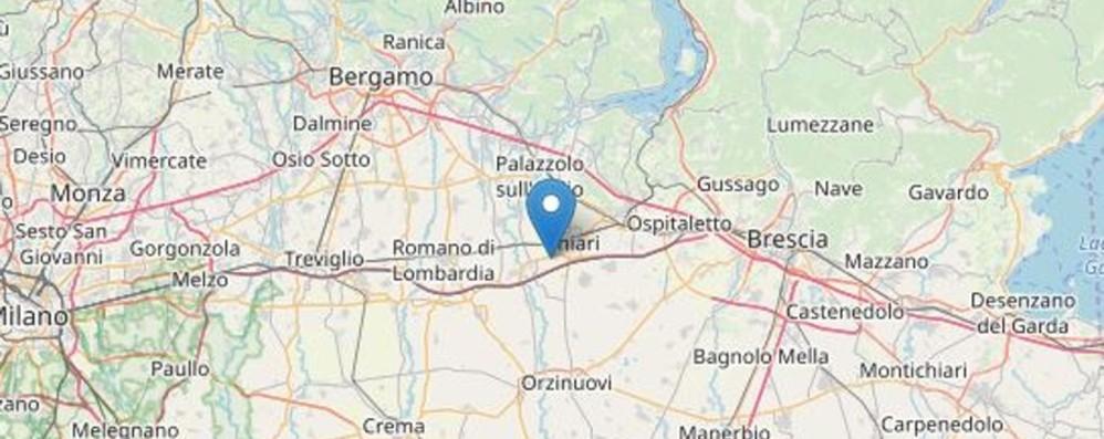 Due scosse  tra Bergamo e Brescia Terremoto lieve, ma avvertito da molti