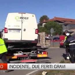 Gorlago - Incidente, due feriti gravi