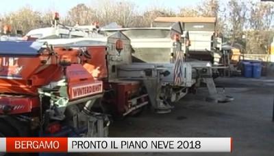 Maltempo: pronto il piano neve del comune di Bergamo