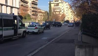Bergamo, incidente auto moto in via Verdi