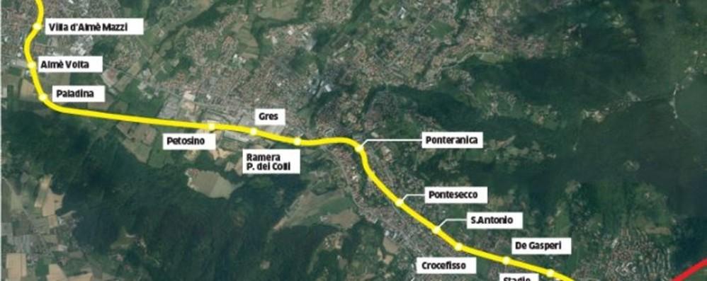 A spasso in tram verso la Val Brembana Viaggio (virtuale) sulla nuova linea T2