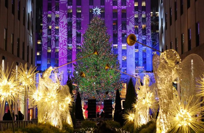 L'albero di Natale al Rockfeller center di New York