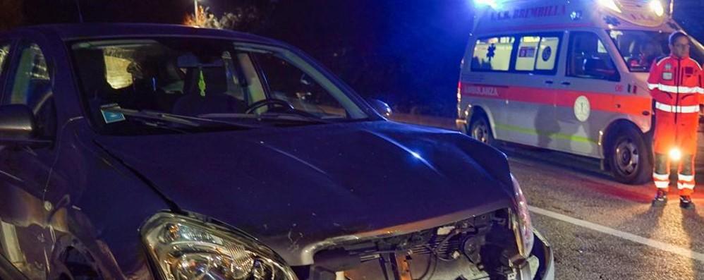Incidente a Lenna, coinvolte due auto Traffico bloccato in Val Brembana