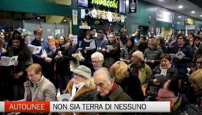 Bergamo - Messa della vigilia alle Autolinee