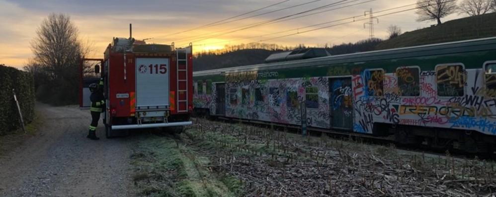 Pontida, investimento sui binari Bergamo-Lecco linea bloccata