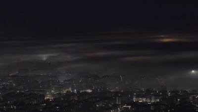 «Bergamo timida, nella nebbia...»