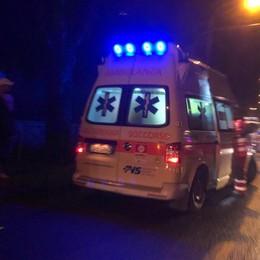 Donna di 55 anni investita a Zogno Ambulanza e automedica sul posto