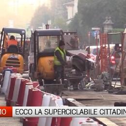 Bergamo, arriva la «super» ciclabile  Quasi conclusi i lavori in via Paleocapa