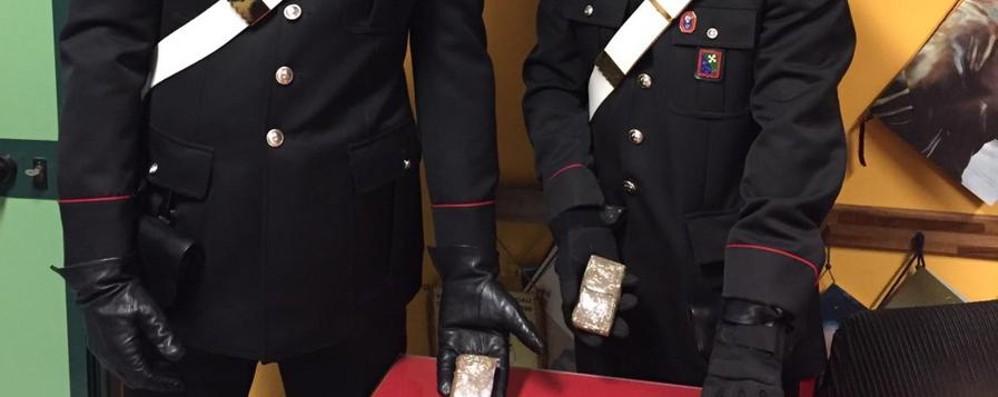 Hashish per migliaia di euro in un cestino dei rifiuti a Verdellino
