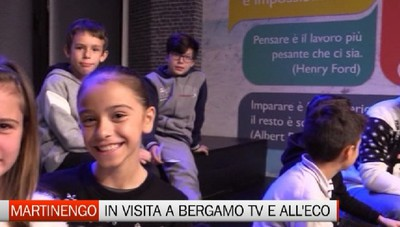 Da Martinengo in visita a Bergamo Tv e all'Eco di Bergamo