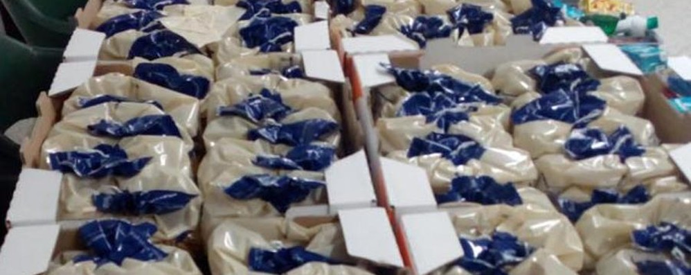Una tonnellata di cibo ai bisognosi «Grazie di cuore al benefattore»