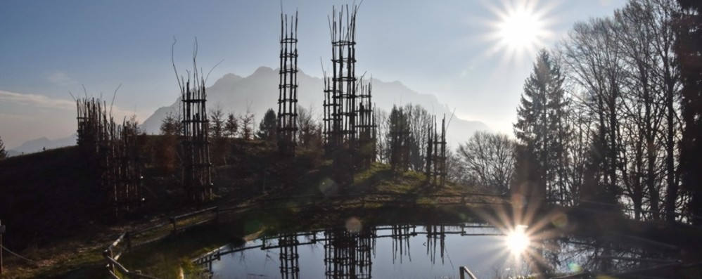Cattedrale vegetale distrutta dal vento Un presepe di 5.360 pezzi per ricordarla