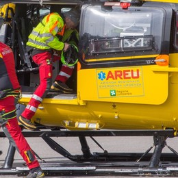 Si sente male un bimbo di 3 anni Sarnico, soccorso con l'elicottero