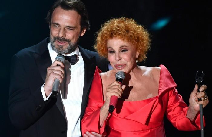 Italian singers Ornella Vanoni with Italian actor Alessandro Preziosi