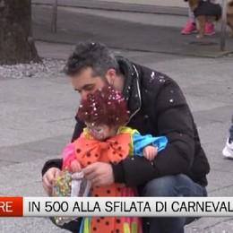 Trescore - In cinquecento alla sfilata di Carnevale