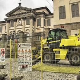 Accademia Carrara, torna il cantiere Iniziano i lavori alla barchessa di destra