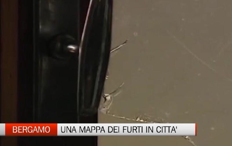 Bergamo - Una mappa dei furti in città - Video Bergamo