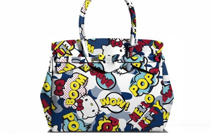 Hello Kitty sulle borse bergamasche Save My Bag, co-branding con Sanrio