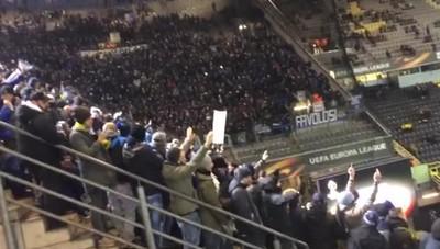 I cori dei tifosi nerazzurri a Dortmund