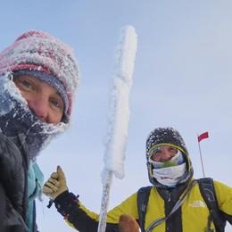 «La scalata ghiacciata» - Foto e video Il racconto emozionante di Simone Moro