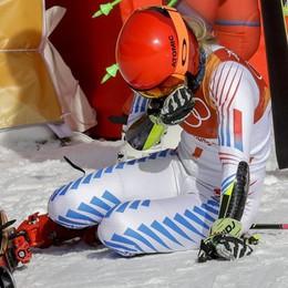 Olimpiadi gigante, bronzo della Brignone Le lacrime della Shiffrin, 11.a la Goggia