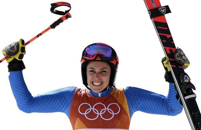 epa06526988 Bronze medal winner Federica Brignone of Italy