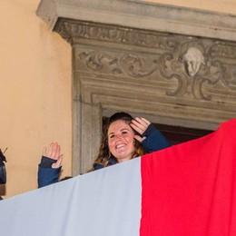 Michela Moioli, festa ad Alzano - Video «Grazie alla mia gente, che emozione»
