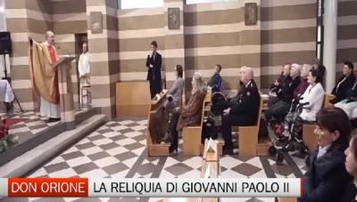 Arrivata a Bergamo la reliquia di S. Giovanni Paolo II. Da Sabato l'apertura a tutti i fedeli