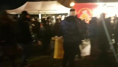 L'arrivo dei tifosi dell'Atalanta allo stadio
