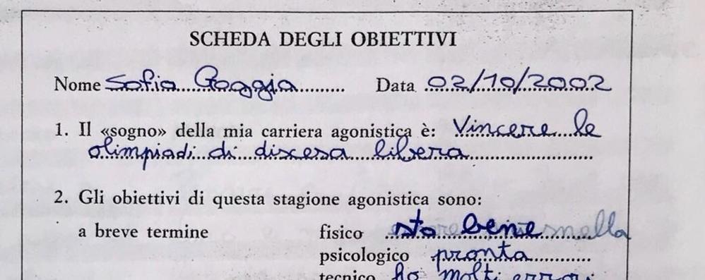 Sofia Goggia, ecco cosa scriveva a 9 anni  «Voglio vincere le Olimpiadi di discesa»