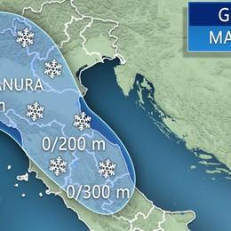 Meteo a Bergamo, resta il gelo  Da giovedì ancora neve anche in pianura