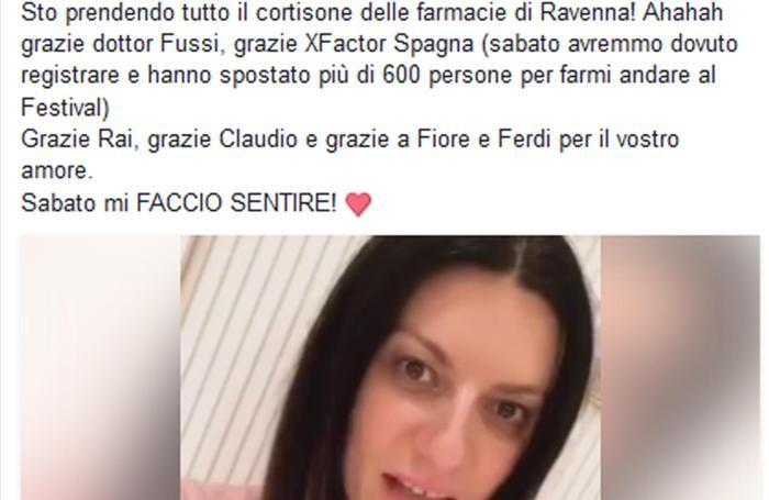 Un frame tratto dal video postato suFacebook da Laura Pausini