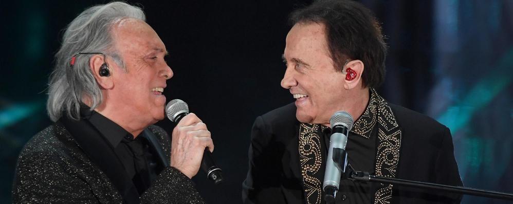 Sanremo, Facchinetti sul palco con Fogli E Michelle a Tomaso: ti risposerei