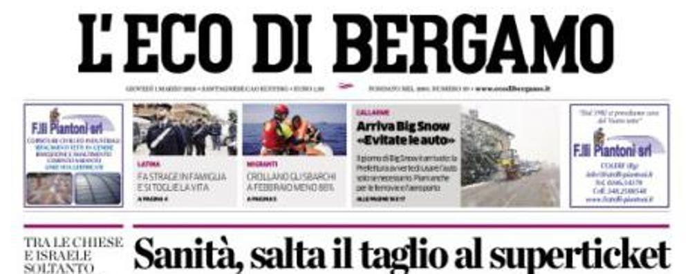 Abbonati «L'Eco», disagi per la neve Tutte le informazioni per i nostri lettori