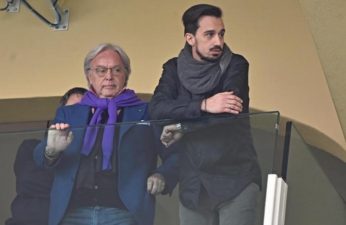 Diego Della Valle con il fratello di Davide Astori