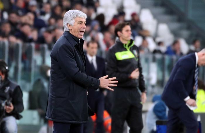 Campionatio di calcio Serie A 2017-2018 Juventus - Atalanta gasperini