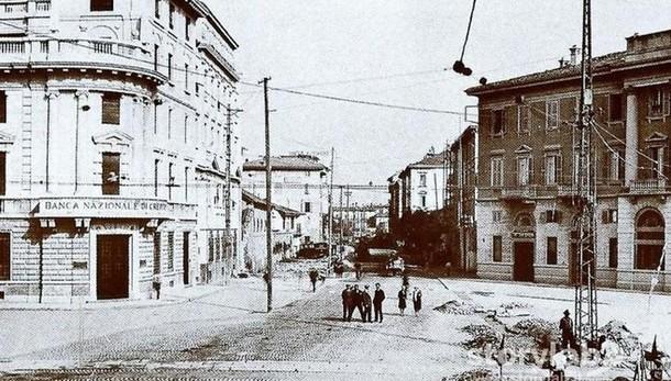 Novecento,  il centro e via Camozzi Ma un tempo era... la circonvallazione