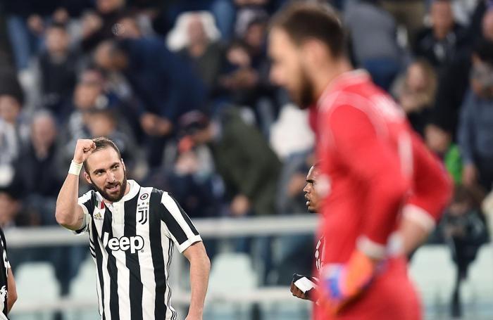 Juventus's forward Gonzalo Higuain