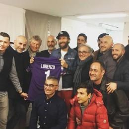 La Fiorentina al concerto di Jovanotti «Una canzone per capitan Astori»