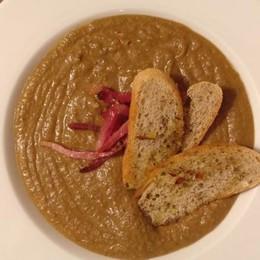 La zuppa  di lenticchie